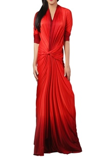 red-bodycon-knotted-style-gown