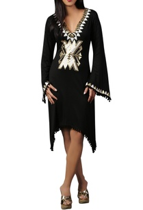 black-white-jersey-kaftan