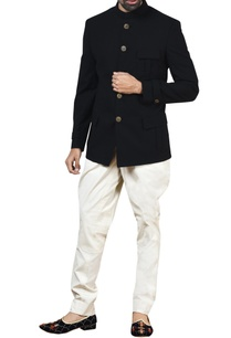 black-stretch-bandhgala-white-jodhpurs