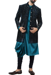 blue-printed-sherwani-set