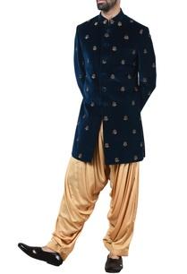 blue-velvet-sherwani-with-patiala-pants