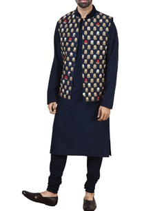 blue-silk-nehru-jacket-set