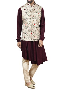 beige-nehru-jacket-with-kurta-beige-pants