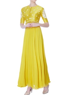 yellow-embroidered-georgette-anarkali