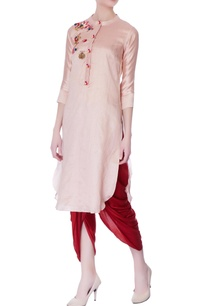 onion-pink-hand-embroidered-kurta
