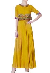 yellow-chiffon-silk-gown
