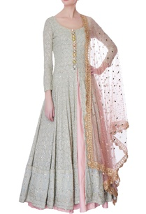 icy-blue-lucknowi-jacket-silk-lehenga