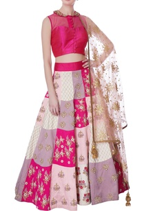 multicolored-embroidered-lehenga-pink-blouse