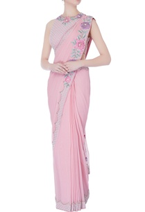 rose-pink-pre-draped-embroidered-sari-with-blouse