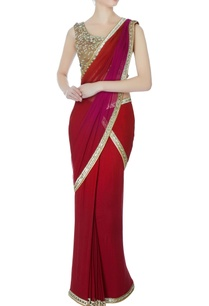 maroon-sequin-sari-with-blouse