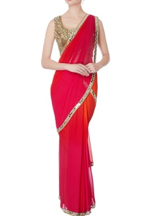 red-pre-draped-embroidered-sari-with-blouse