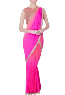 pink-pre-draped-embroidered-sari-with-blouse