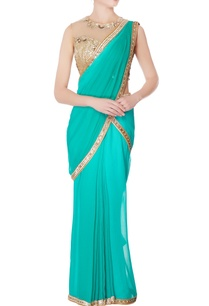 sea-green-sequin-sari-with-blouse