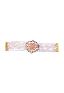pink-gold-plated-pearl-bracelet