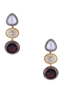 brown-polki-jadtar-gold-plated-earrings