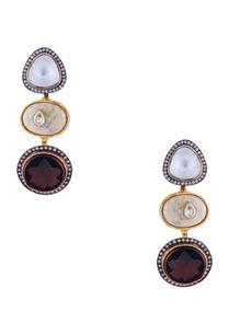 brown-polki-jadtar-gold-plated-earrings