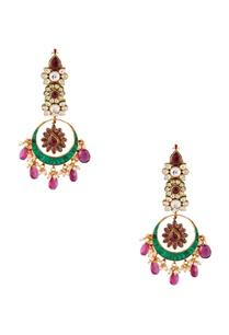green-semi-precious-stones-gold-plated-chaandbalis