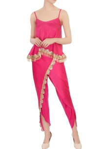 pink-spaghetti-blouse-mirror-embellished-pants