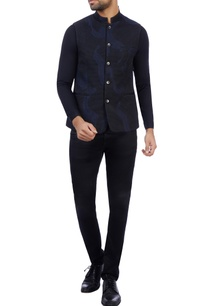 black-navy-blue-satin-silk-embroidered-nehru-jacket