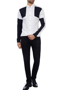 black-white-cotton-color-blocked-shirt