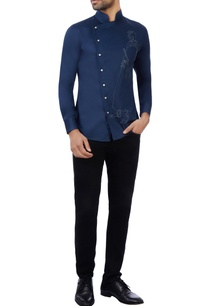 blue-cotton-embroidered-shirt