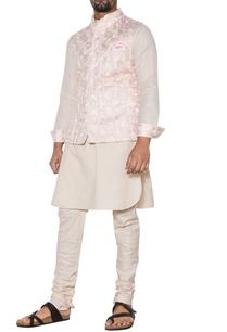 pink-beige-embroidered-nehru-jacket-set