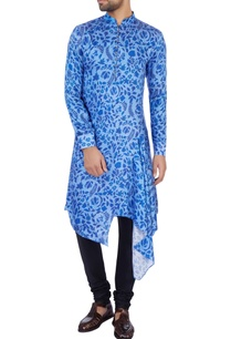blue-modal-satin-printed-kurta-and-pant-set