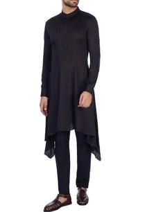 black-modal-satin-solid-kurta-and-pant-set