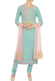 blue-sequin-embellished-kurta-set