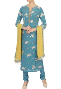 blue-pearl-sequin-embellished-kurta-set