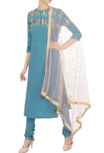 blue-sequin-pearl-embellished-kurta-set