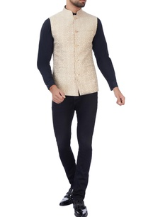 beige-thread-embroidered-nehru-jacket