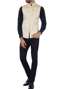 beige-textured-jacket-with-chain-buttons