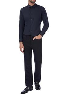 black-textured-woolen-pants