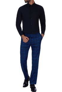 blue-check-fitted-pants