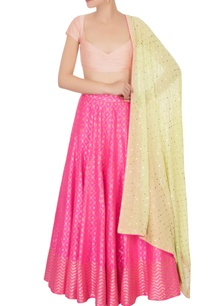 hot-pink-banarasi-silk-lehenga-set