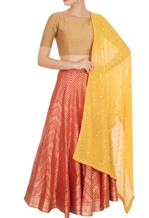red-banarasi-silk-lehenga-set