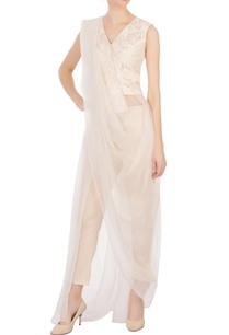 beige-printed-jacquard-blouse