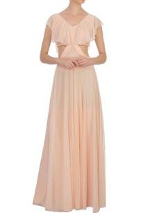 peach-cut-out-chiffon-maxi-dress
