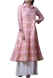 pink-printed-kurta-with-white-pants
