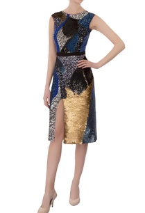 multicolored-sequin-embellished-dress