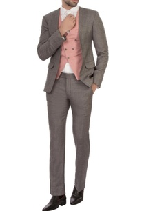 grey-cotton-blend-worsted-wool-patterned-three-piece-suit