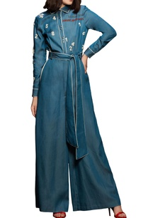 blue-slogan-vintage-jumpsuit
