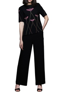 black-hand-embroidered-top-pants