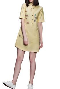 light-yellow-shirt-dress