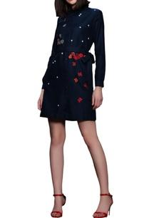 blue-embroidered-shirt-dress