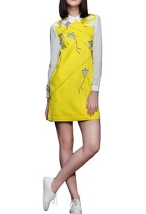 yellow-peter-pan-collar-dress
