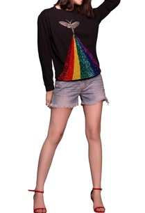 black-rainbow-insect-sweatshirt