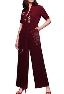dark-red-embroidered-jumpsuit