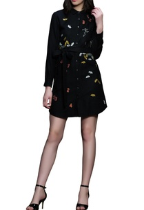black-embroidered-cotton-dress